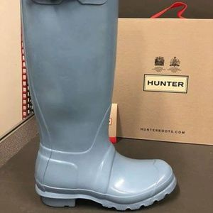 Brand New Hunter Original Tall Gloss Rain Boots, 6